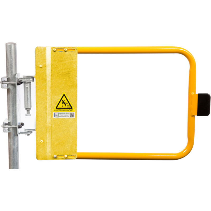 Yellow Industrial Swing Gates