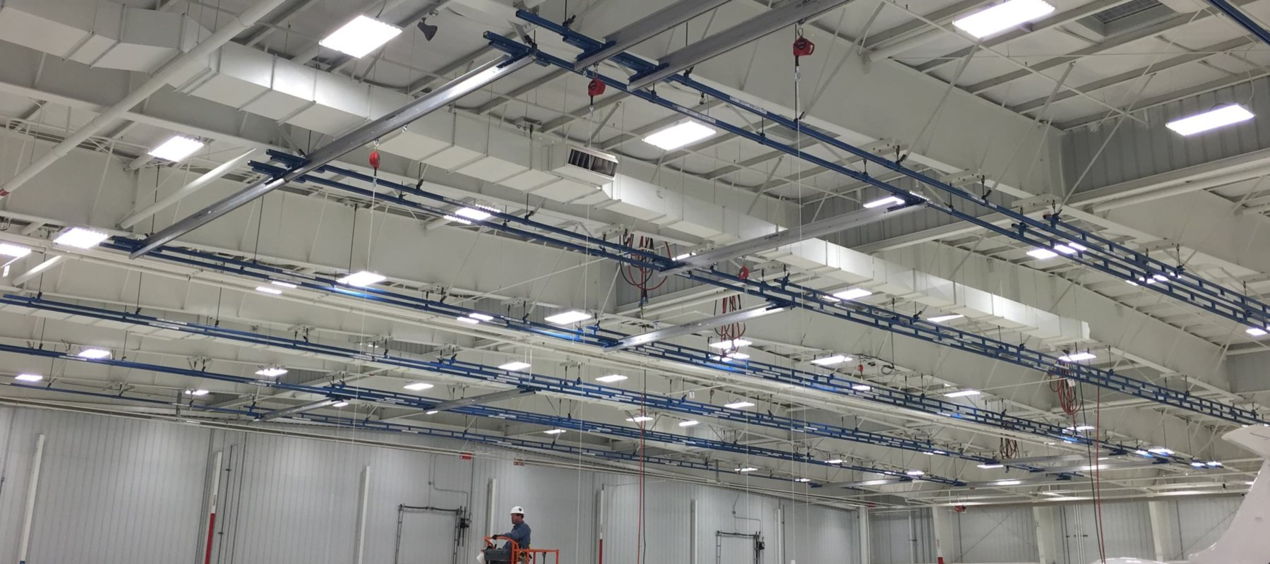 Overhead fall protection system