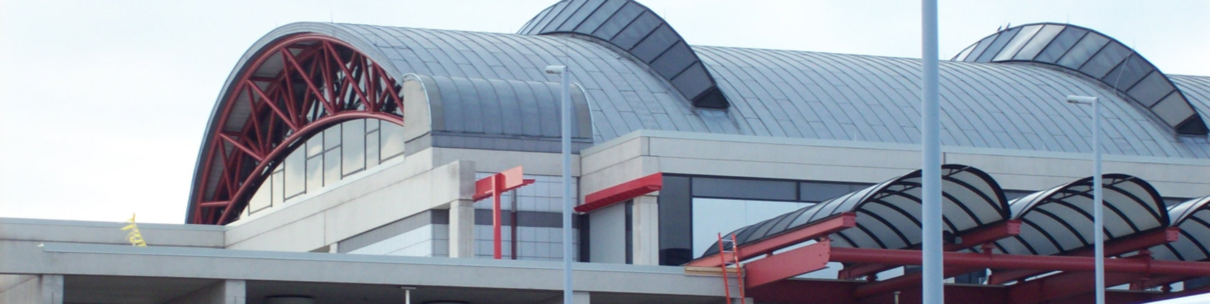 fall protection and rooftop walkways for the airports