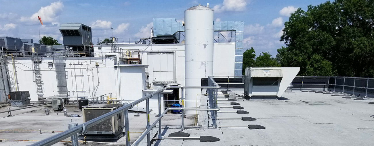 KeeGuard Roof Railing for Food Processing Facilities