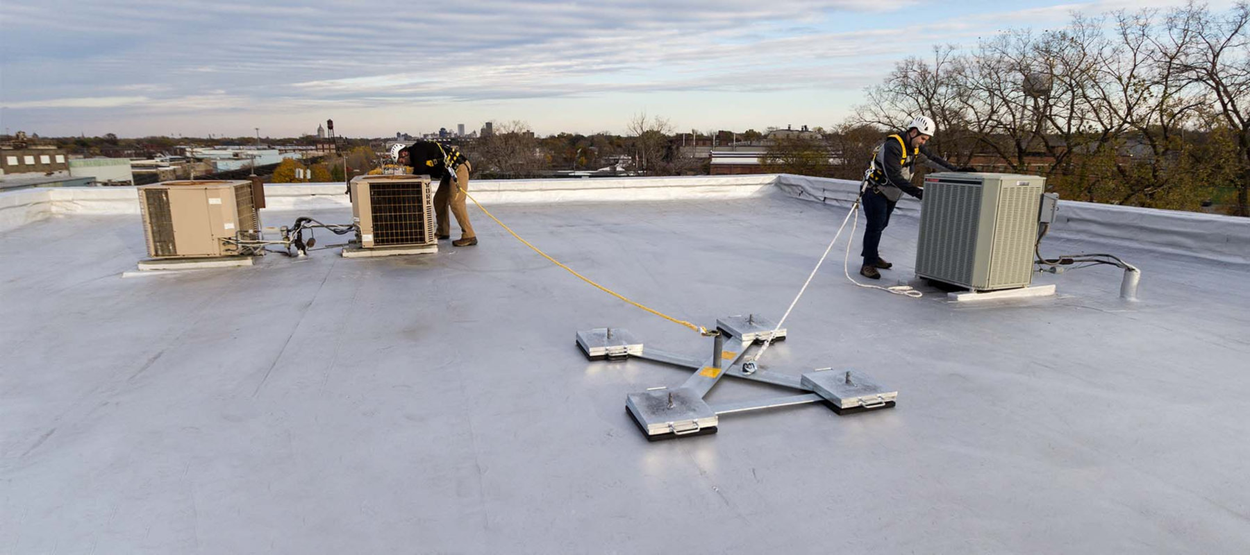 Non-Penetrating, Portable Roof Anchor System