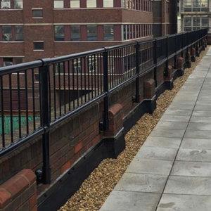 Infill Panels on Parapet Railing