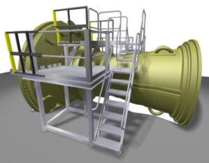 Turbine Assembly Crossover Stairs