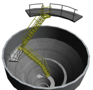 Atomizer Pit Access Stairs
