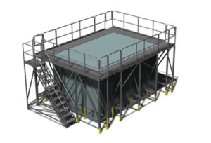 Modular Wrap-Around Work Platform