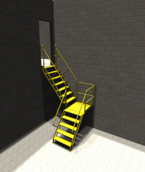 Steel Industrial Stairs