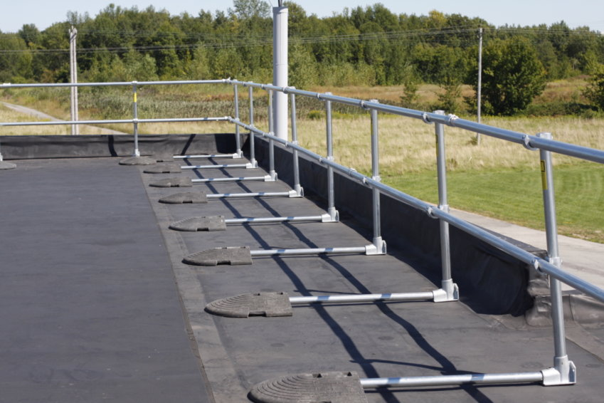 Keeguard Rooftop Guardrail System Passive Fall Protection