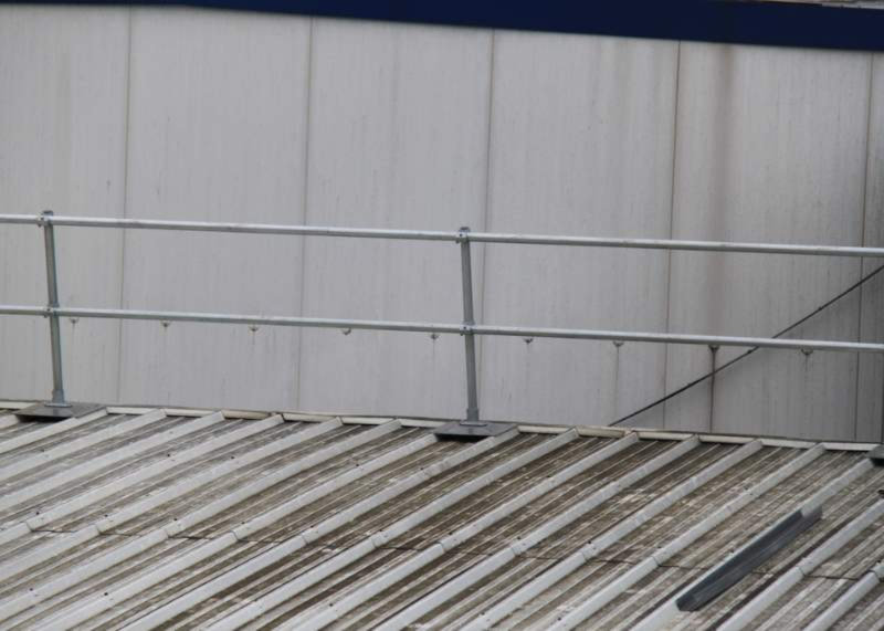 Railing For Corrugated Roof Keeguard Topfix