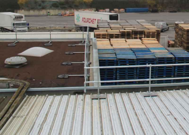 Keeguard Corrugated Metal Roof Railing