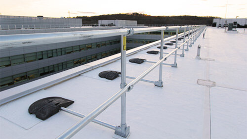 KeeGuard Non-Penetrating Rooftop Guardrail