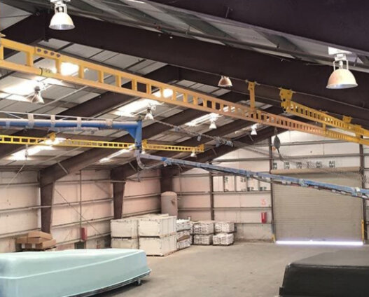 Rigid Rail Overhead Fall Protection System