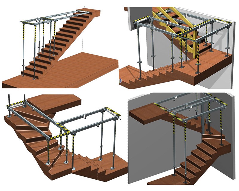 stairwell protection system configurations