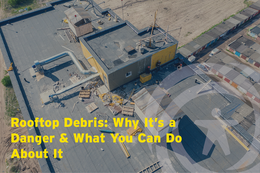 Rooftop debris dangers