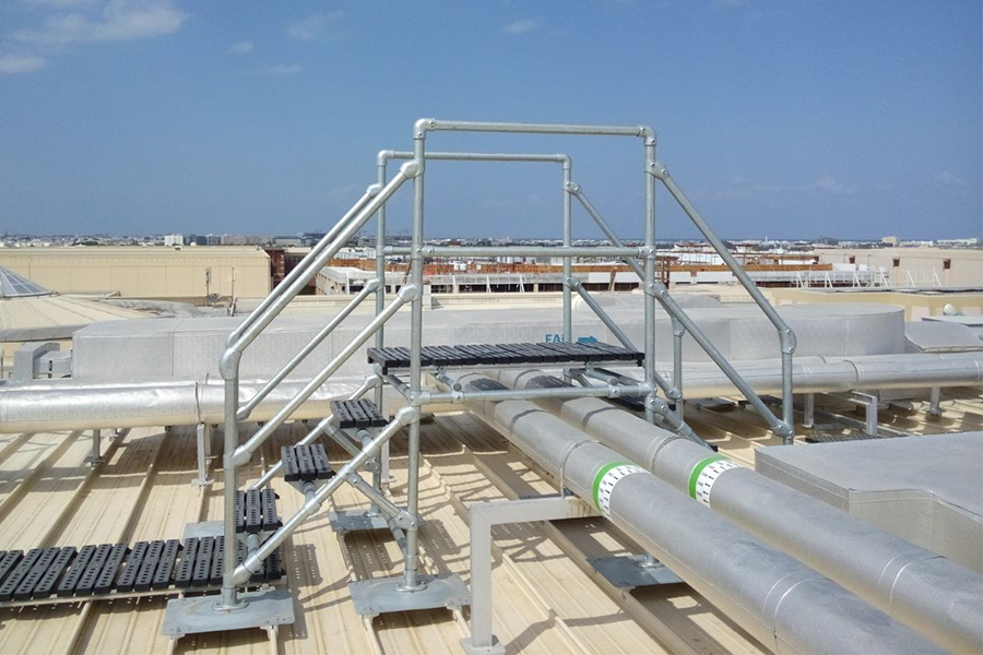 crossover platform on rooftop