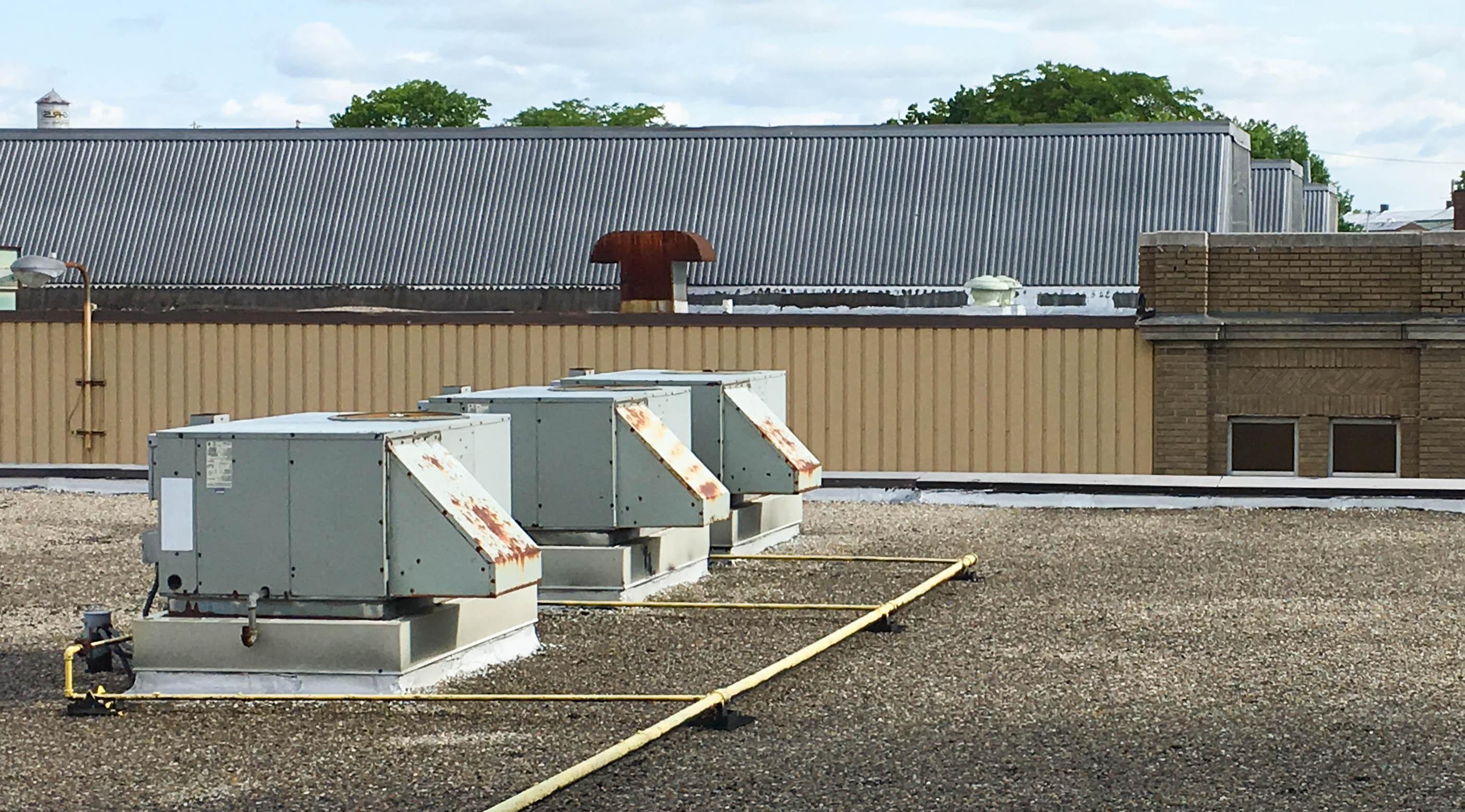 HVAC units on rooftop
