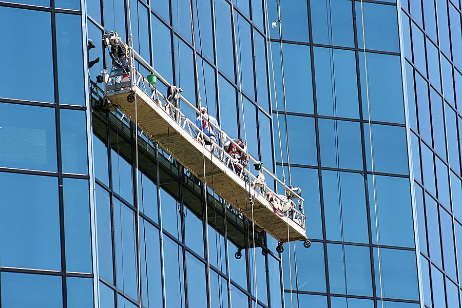 window washing scaffolding