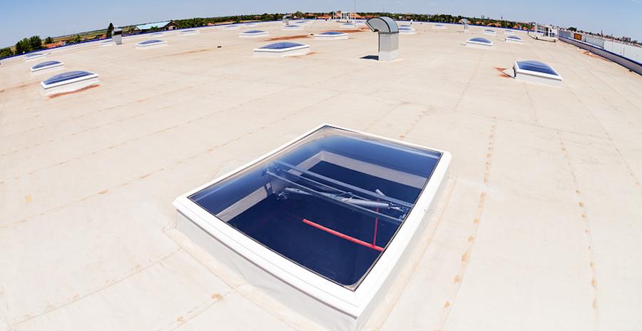 skylights on flat roof