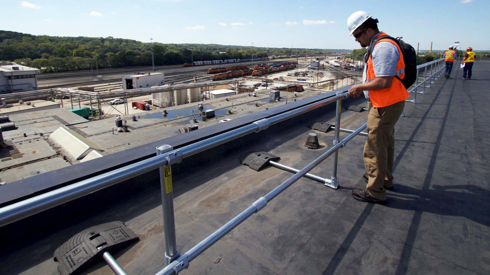 Installing KeeGuard fall protection railing
