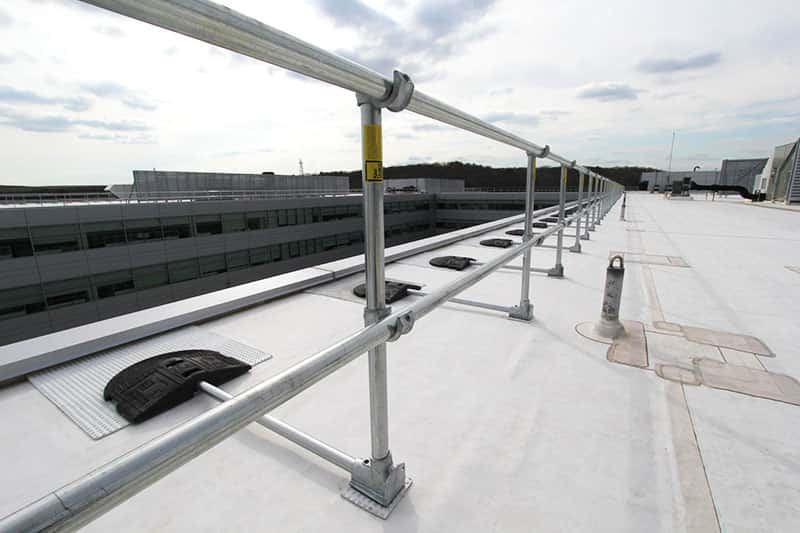 safety railing systems for rooftops