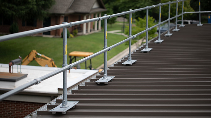 Safety Railing for Metal Rooftops | Exceed OSHA Standards