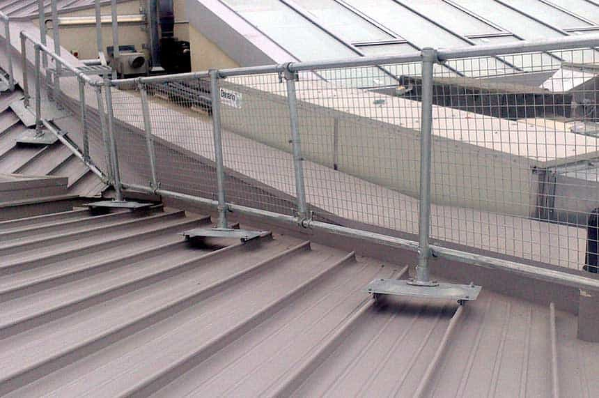 safety railing metal roof surfaces