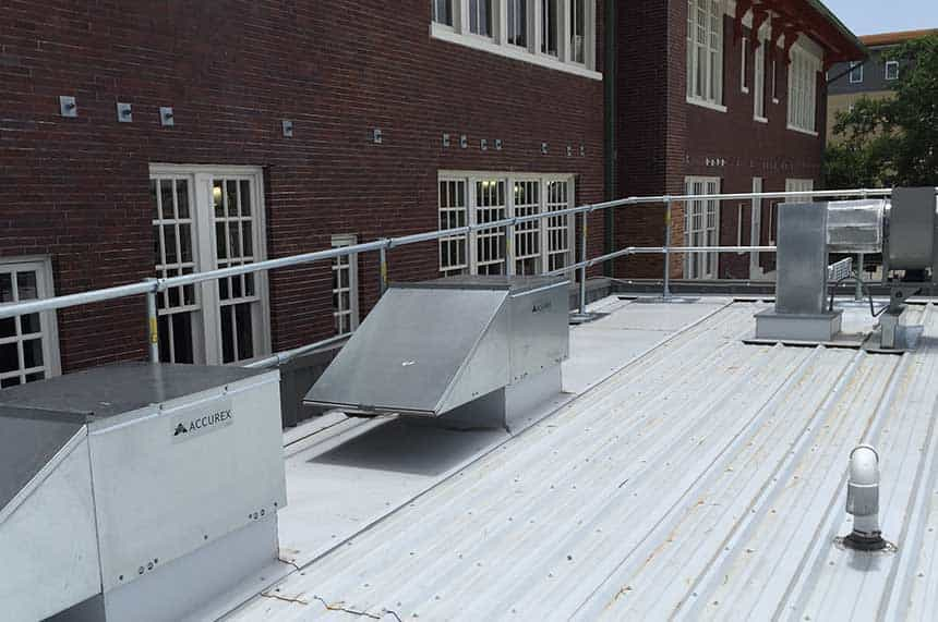 Metal Roof Safety Railing - KeeGuard Roof Railing
