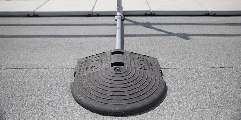 Permanent Non-Penetrating Railing Weighted Base