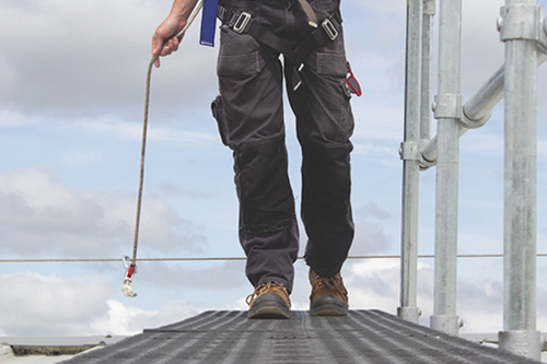 Kee Walk with guardrail, fall protection