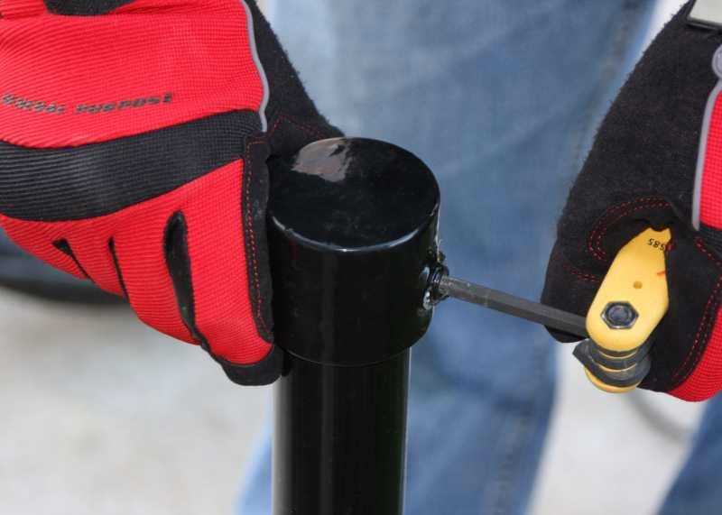installing OSHA guardrail