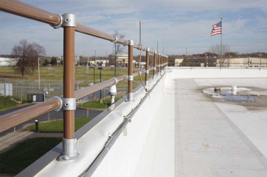 OSHA parapet railing