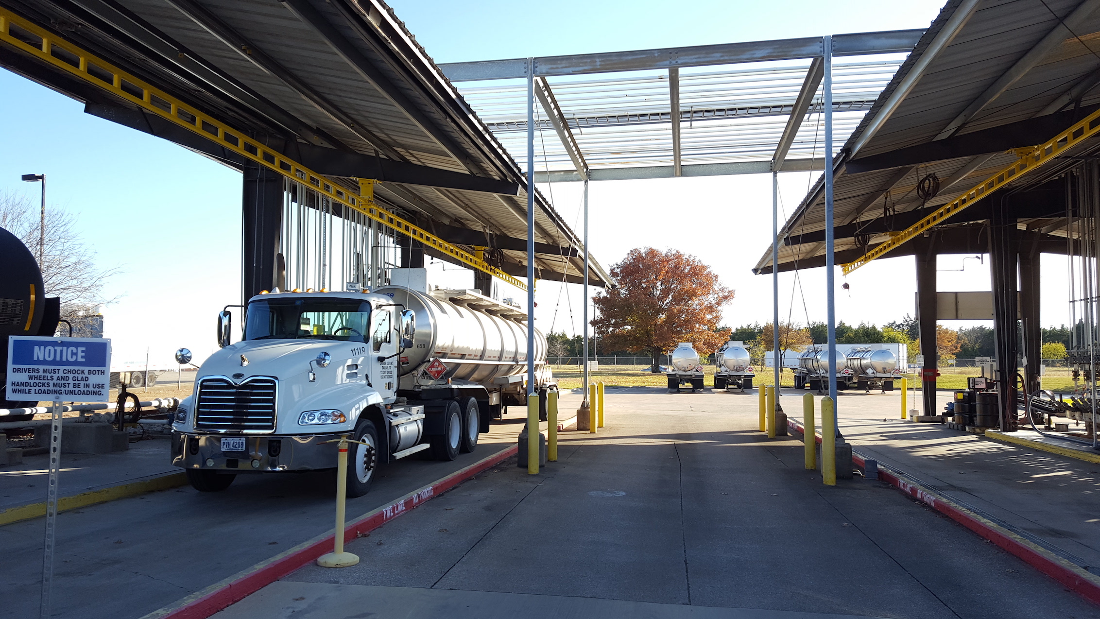 overhead fall protection for trucking