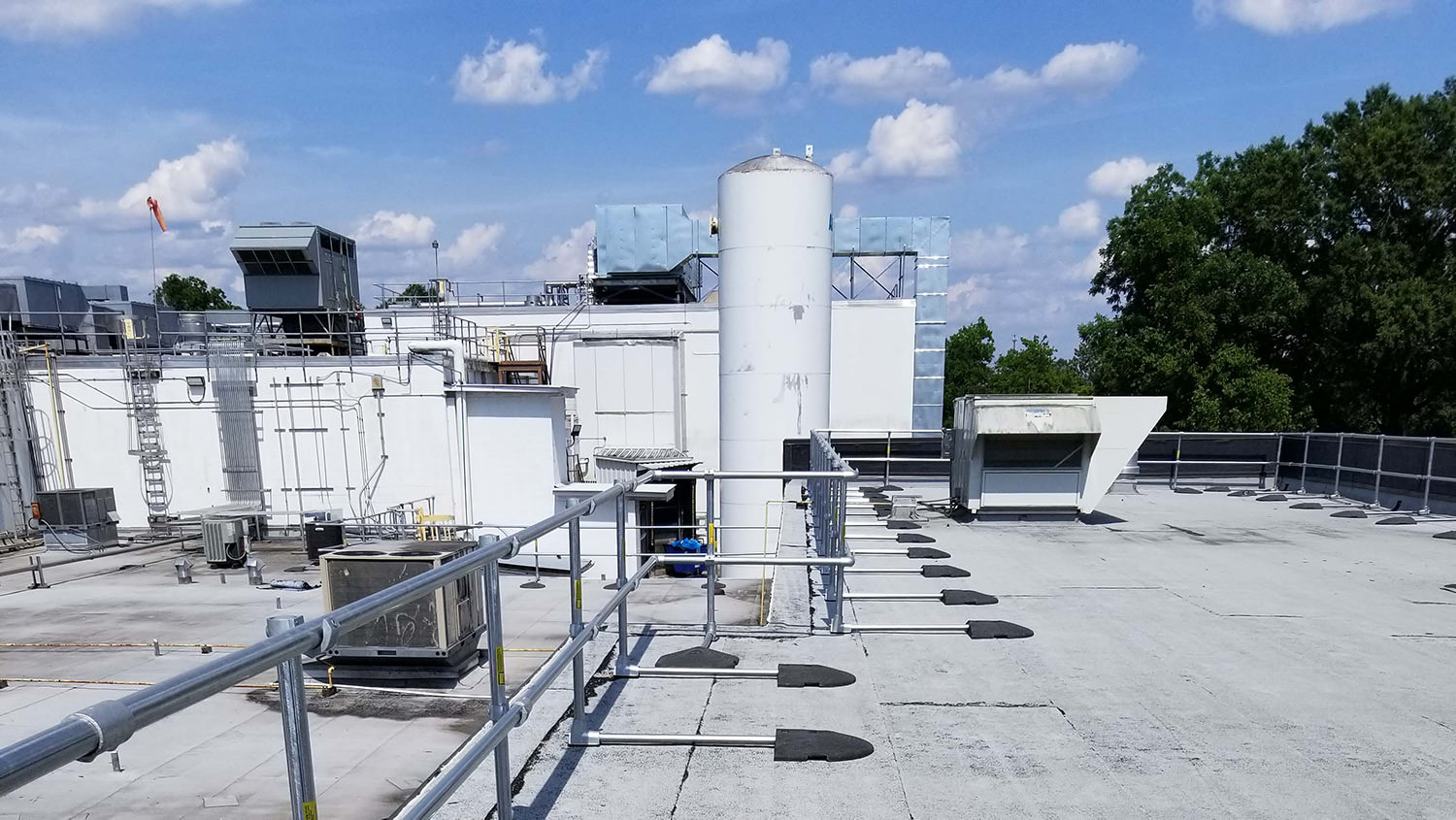 Safety Railing for Fall Protection in Food Processing