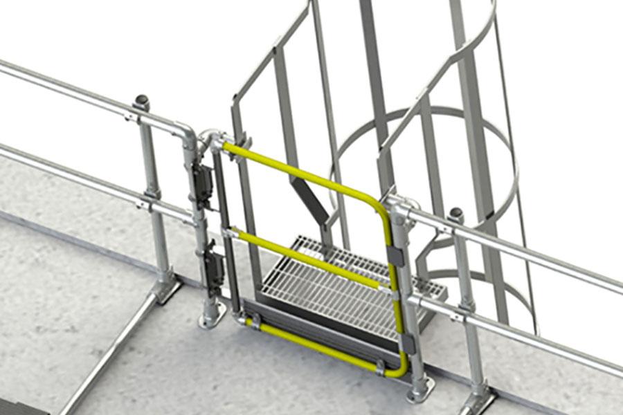 self closing ladder gate