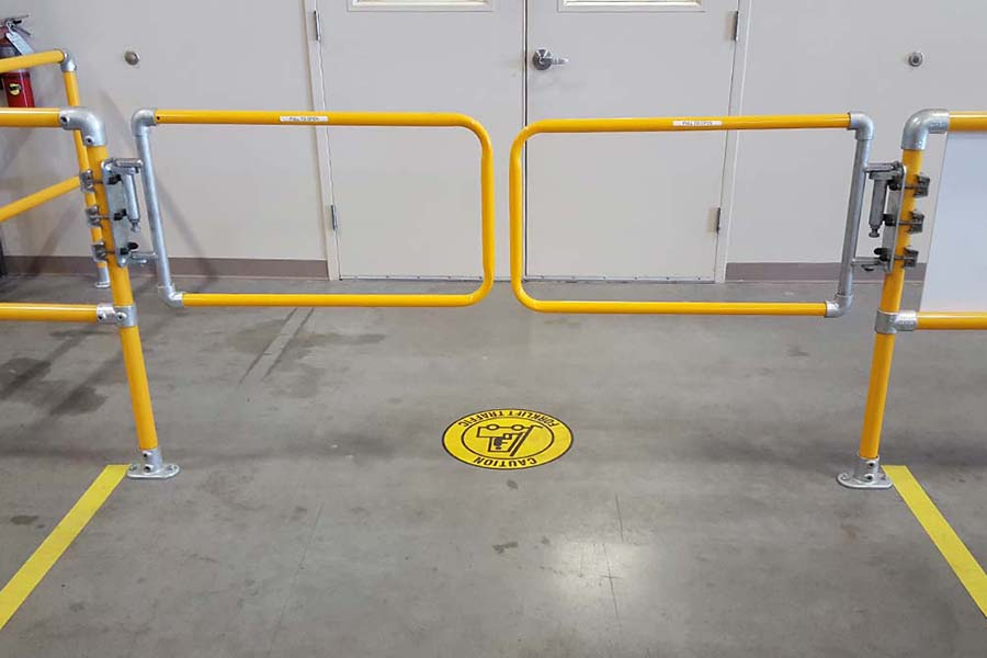 double wide safety gate