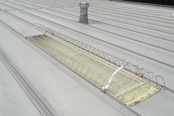 standing seam metal roof skylight screen