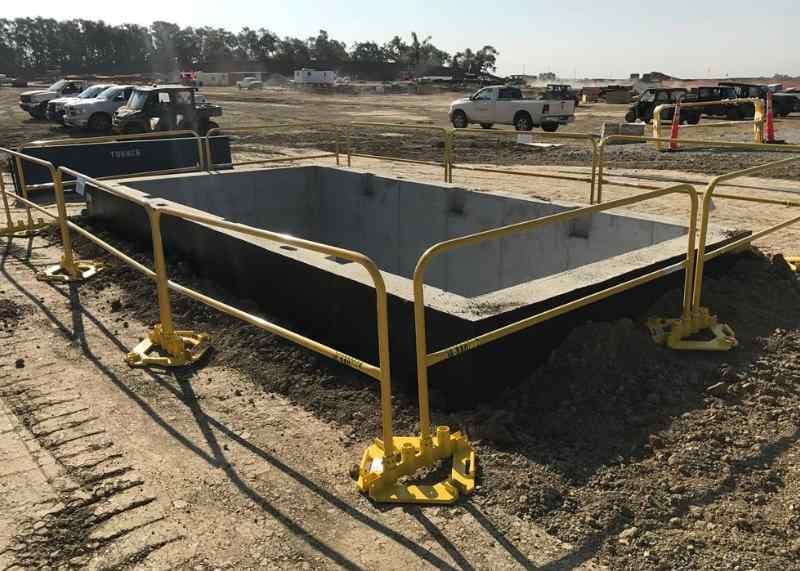 construction grade portable railing
